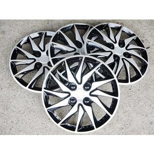 刀鋒款 銀黑款 改裝亮面款 仿鋁圈樣式 通用型 四片裝 13吋 14吋 通用型 輪圈蓋 鐵圈蓋 保護蓋
