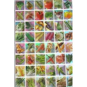 郵票貼紙 方格貼紙(大張.蔬菜篇) /一包12大張入[#20] 蔬菜貼紙