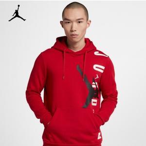 NIKE Jordan Hoodie 紅 白 黑 大logo 棉 舒適 刷毛 帽T CD5871-687 ☆SP☆