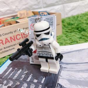 樂高鑰匙圈 STAR WARS 星際大戰 帝國風暴兵 武器版 LED 人偶造型鑰匙圈燈 COCOS LG320