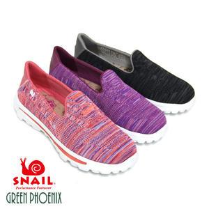 U3-21791 女款第三代混色飛線針織休閒健走鞋【GREEN PHOENIX】SNAIL蝸牛
