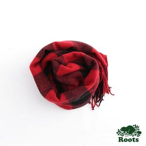 Roots - 配件- 阿岡昆格紋圍巾 - 紅色
