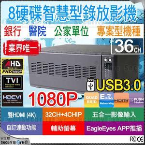 【台灣安防家】32路 8硬碟16聲 DVR 可 HDMI 4K 輸出 AHD TVI CVI CVBS 1080P 適 10TB 8TB 硬碟
