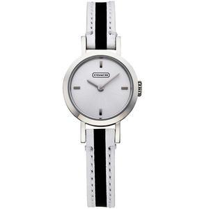 【僾瑪精品】COACH Signature Studio 時尚腕錶-銀x黑/白色錶帶/23mm (銀-23mm-14501578)