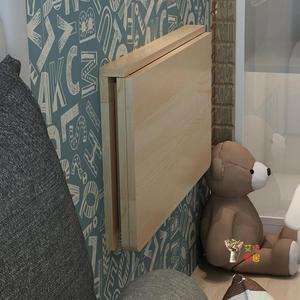 壁掛桌 雙支撐連壁桌掛牆桌靠牆摺疊桌實木壁掛桌電腦桌餐桌書桌牆壁桌子T