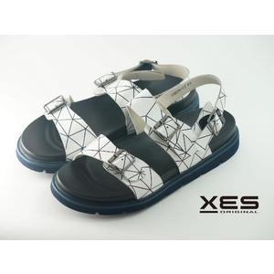 XES 時尚交織線性一字型涼鞋 男款 白色