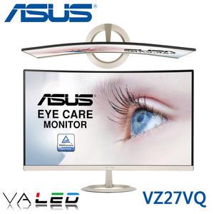 【免運費】ASUS 華碩 VZ27VQ 27型 VA面板 曲面顯示器/ 內喇叭 / 低藍光+不閃屏 / 三年保