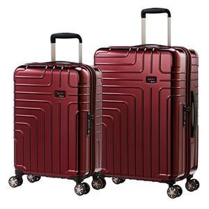 eminent【伊洛絲】極輕絕美鏡面PC行李箱 20+24吋(金屬紅) KG93