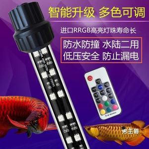 燈座燈管LED魚缸燈水中照明燈鸚鵡紅燈t8金龍紅龍魚專用燈水族箱燈管防水