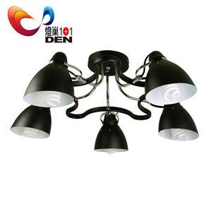 loft工業風  奧斯曼金屬半吸頂5燈 【燈巢1+1 】燈具。Led居家照明。桌立燈   03049581