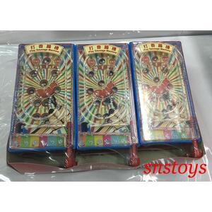 sns 古早味 懷舊童玩 玩具 造型糖果玩具 打香腸機 彈珠台 長寬14x7公分 (6入 / 組)顏色隨機出貨