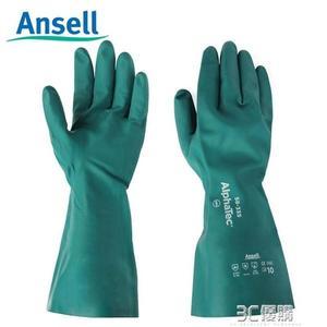 ansell 58-335丁腈橡膠防化手套防毒耐酸堿塑膠工業防護加厚防水 3C優購