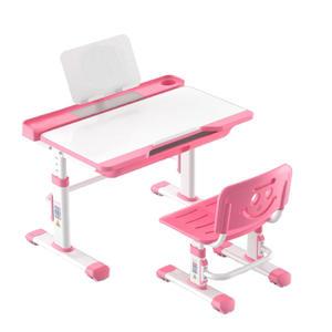 成長天地 兒童成長學習書桌椅組 可升降書桌椅 (粉色) 【杏一】