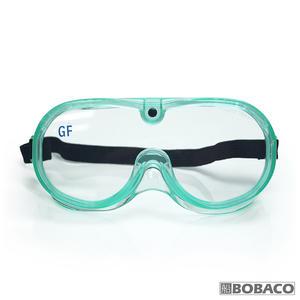 台灣製【透氣式防塵護目鏡GF-102綠色】鬆緊帶眼罩 工作護目鏡 防護眼鏡 透明護目鏡 防風護目眼鏡