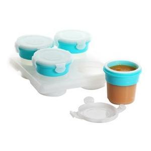 2angels 矽膠副食品儲存杯(附杯架) - 120ML+60ML