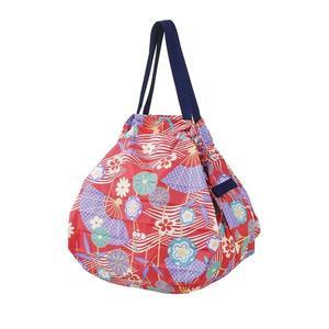 【Shupatto】 輕巧秒收環保袋(M/和風扇) 2019新款 折疊收納 大容量 環保袋 購物袋  日本MARNA