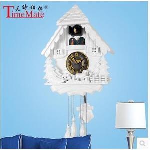 布谷鳥鐘掛鐘光控音樂旋轉舞臺咕咕鐘歐式客廳擺鐘時鐘