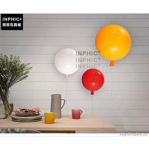 INPHIC- 現代紅色氣球燈北歐簡約壓克力玄關過道餐廳臥室床頭燈兒童房壁燈-A款_S197C