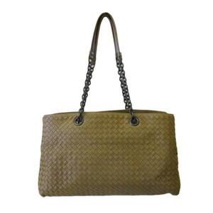 【巴黎站二手名牌專賣店】*Bottega Veneta BV 真品*駝色 編織羊皮 雙層肩背包 手提包