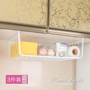 冰箱掛架 櫥房置物架冰箱收納架大號多功能廚櫃廚房家用吊櫃下掛籃掛架 果果輕時尚NMS