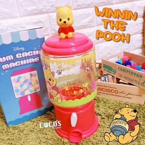 正版迪士尼 小熊維尼 Q版維尼 扭蛋機造型糖果罐 糖果機 收納罐 擺飾 不含糖果 COCOS JP650