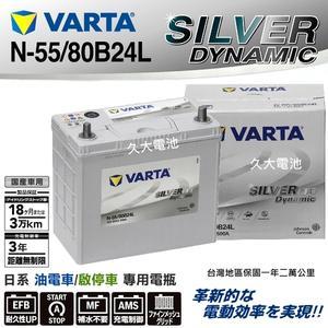 ✚久大電池❚ 德國 VARTA  N-55 / 80B24L  EFB 油電車電瓶 啟停車電瓶 i-Stop