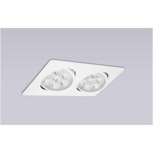 【燈王的店】LED 9Wx2 聚光 方型 崁燈  白框 暖白光 4000K ☆ TYL533
