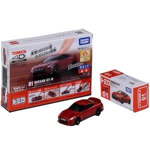 TOMICA 4D 小汽車 01 日產 GT-R Red