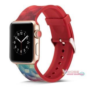 蘋果手錶帶 適用于iwatch3錶帶硅膠apple watch運動錶帶蘋果手錶帶男女 5色