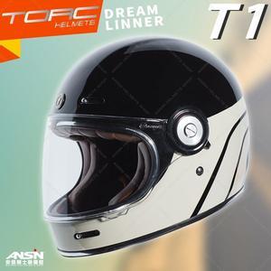 [中壢安信]美國 TORC T-1 T1 彩繪 DREAMLINNER 亮光黑褐 全罩 安全帽 雙D扣 樂高帽 山車帽