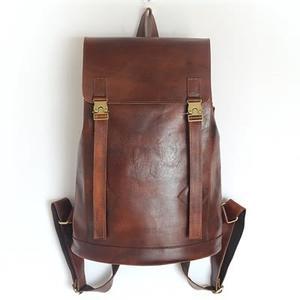 後背包-真皮手工擦色復古大容量男雙肩包73ne18【巴黎精品】