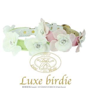 ★OBO CLUB HOUSE☆ Luxe birdie  層次花朵鑽芯真皮項圈  兩色