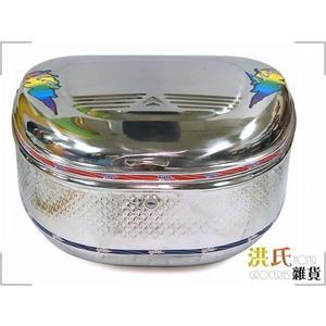 【洪氏雜貨】 259A016 M-304-02 不銹鋼大號圓 機車後置物箱 單入