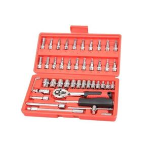 汽修46件套【SG443】萬用 工具箱 全配46件 套筒 緊急工具 工具組 螺絲 內裝 拆卸