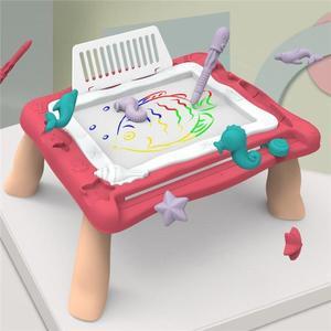 兒童繪畫板 兒童畫板支架式寫字板女孩幼兒家用塗鴉板磁性畫畫寶寶畫板桌玩具 快樂母嬰