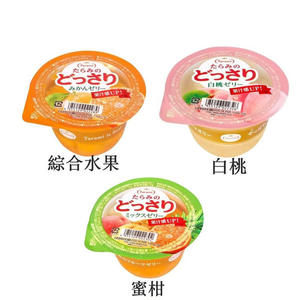 日本 達樂美果凍 白桃果凍 柑橘果凍 綜合水果 (1盒/230g*6)◎花町愛漂亮◎UP
