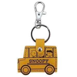 【卡漫城】 Snoopy 巴士 皮革 鑰匙圈 ㊣版 史努比 史奴比 扣環 拉鍊環 吊飾環 掛飾 塔克 日本製