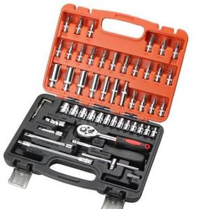 46件套扳手組套小快速鉻釩鋼套筒旋具五金工具6.3mm53件套裝 可可鞋櫃
