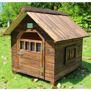 室內戶外用碳化防雨實木狗屋狗窩貓屋貓窩寵物窩 3C優購HM