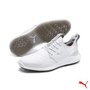 【感恩回饋~全品牌6折優惠】Puma Golf IGNITE NXT Pro 男用舒適高穩定無釘兩用高爾夫球鞋 白 192401 03