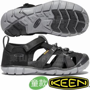 KEEN 1020690黑 Seacamp II CNX青少年編織涼鞋 兒童運動鞋/水陸兩用溯溪鞋/沙灘鞋護趾拖鞋