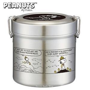 日本限定 SNOOPY 史努比 登山版 超輕量 不鏽鋼真空保溫餐罐 / 便當盒 / 餐盒 1050ml