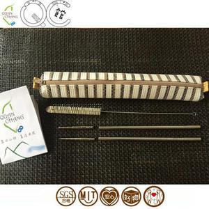【QC館】SUS304 不鏽鋼吸管+鈦合金筷頭-吸管筷子組