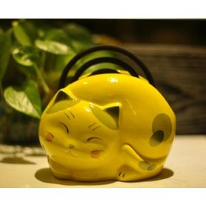 可愛貓咪陶瓷創意安全蚊香盤蚊香座蚊香盒蚊香托蚊香架蚊香器家用