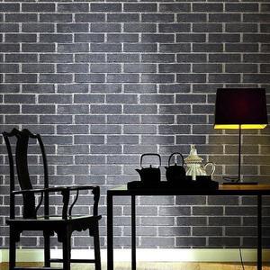 復古磚紋紅磚青磚仿古磚頭墻紙 立體磚塊文化石背景墻壁紙