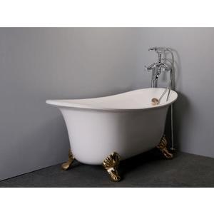 【台灣吉田】8686-666 古典造型貴妃獨立浴缸/空缸 按摩浴缸 壓克力材質 薄型款130cm
