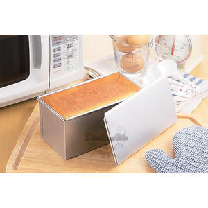 日本麵包吐司盒蜜糖吐司模具1斤附蓋長方形烤模023838通販屋