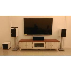 【名展影音-安裝規劃】KEF 白色優雅Q300書架喇叭+ Q200C 中置+Wharfedale DX1 白鋼烤重低音
