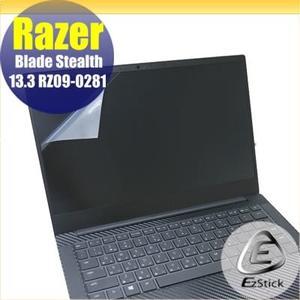 【Ezstick】Razer Blade Stealth 13.3 RZ09-0281 靜電式筆電LCD液晶螢幕貼