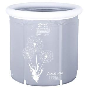 摺疊浴盆家用大號 成人沐浴桶加厚兒童可摺疊桶充氣小戶型 LOLITA
